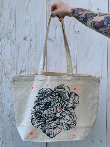 """Tote bag """"Dot Flower"""""""